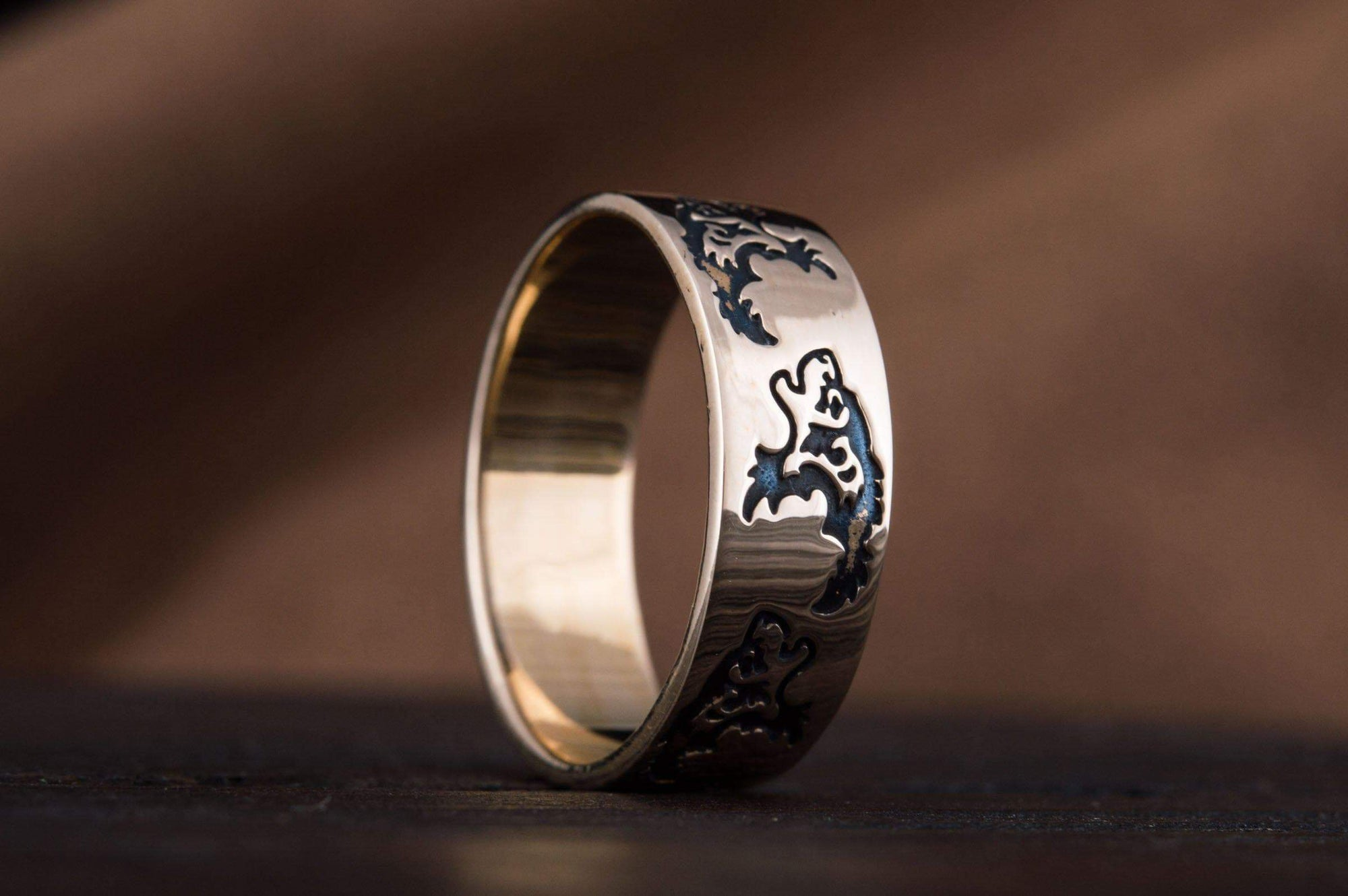 Vikings Wolf Ornament Handcrafted Norse Ring