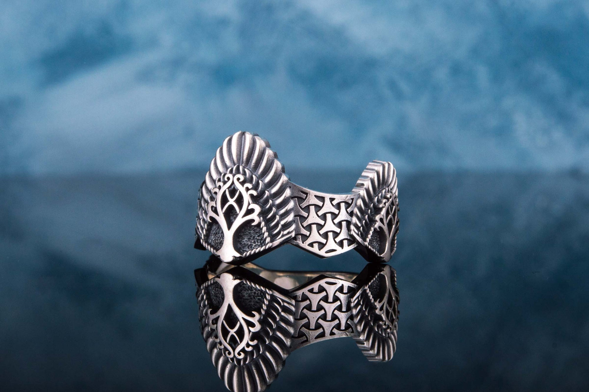 Vikings Yggdrasil Sterling Silver Handcrafted Ring