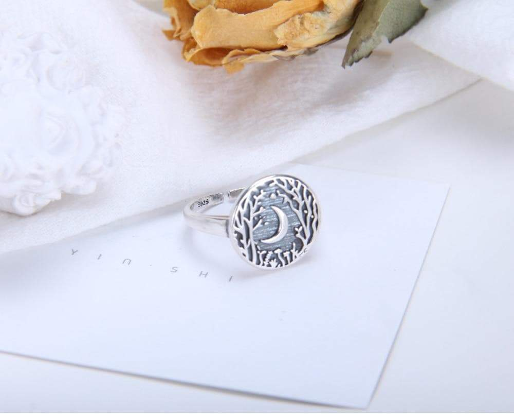 Rings Wiccan Crescent Moon 925 Sterling Silver Ring Ancient Treasures Ancientreasures Viking Odin Thor Mjolnir Celtic Ancient Egypt Norse Norse Mythology