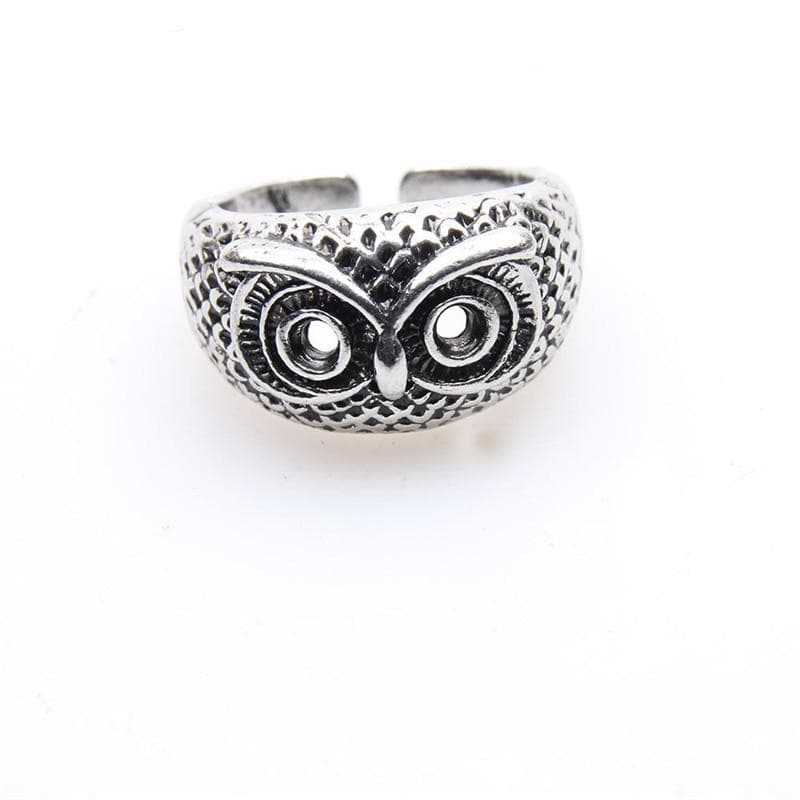 Rings ZRM Vintage Owl Alloy Ring Punk Hip Hop Classic Animal Rings For Men And Women Birthday Gifts Party Style|Rings| Ancient Treasures Ancientreasures Viking Odin Thor Mjolnir Celtic Ancient Egypt Norse Norse Mythology