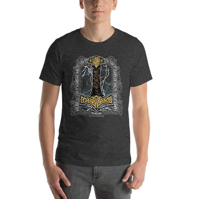 Shirts & Tops Dark Grey Heather / XS Mjolnir by Celtic Hammer Club Unisex T-Shirt Ancient Treasures Ancientreasures Viking Odin Thor Mjolnir Celtic Ancient Egypt Norse Norse Mythology
