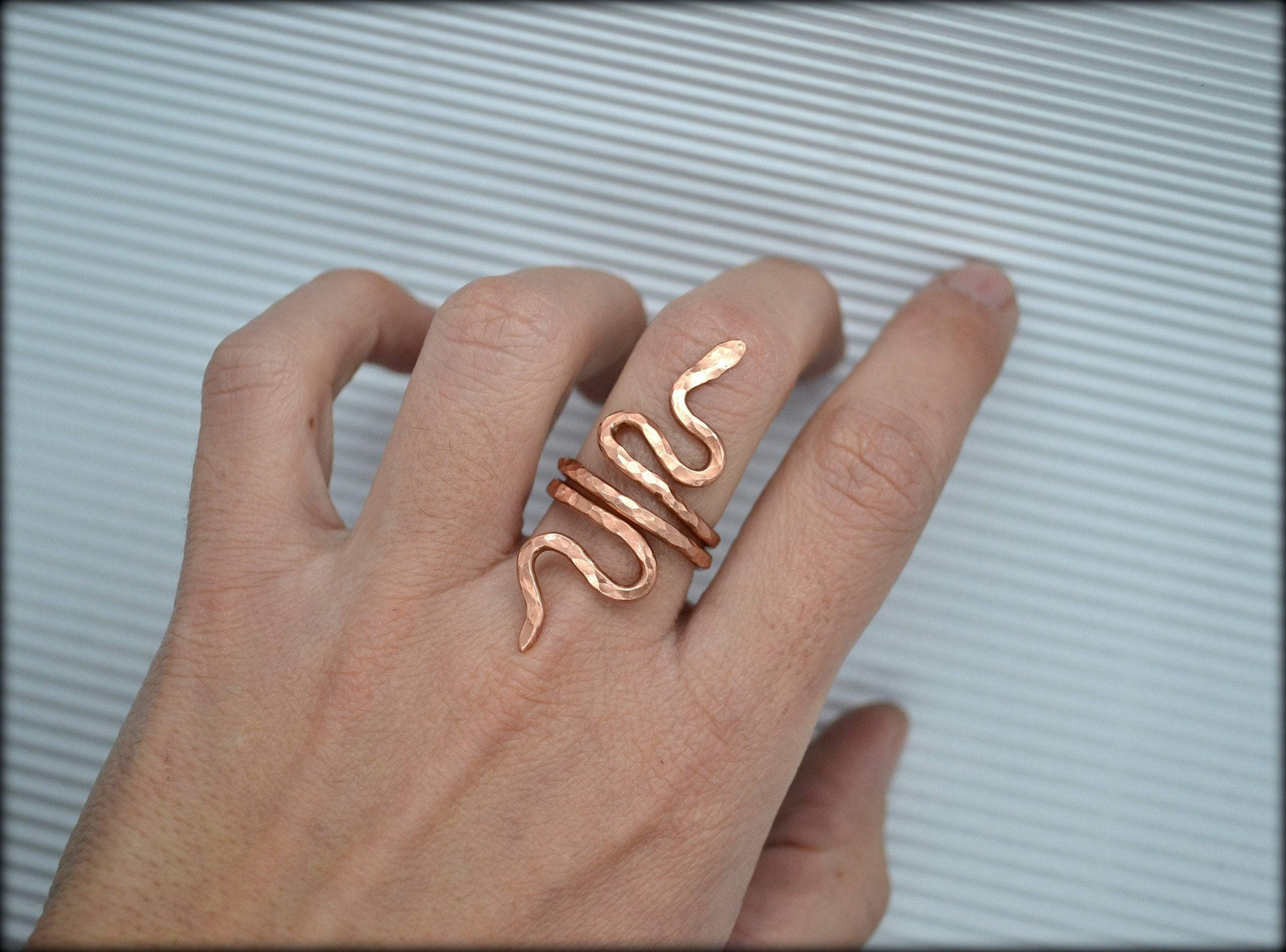 Snake Ring ,Ancient Greek Ring, Greek Gold Ring, Statement Ring, Spiral Ring, Wrap Ring, Wide Ring, Simple Ring, Cuff Ring, Brass Ring