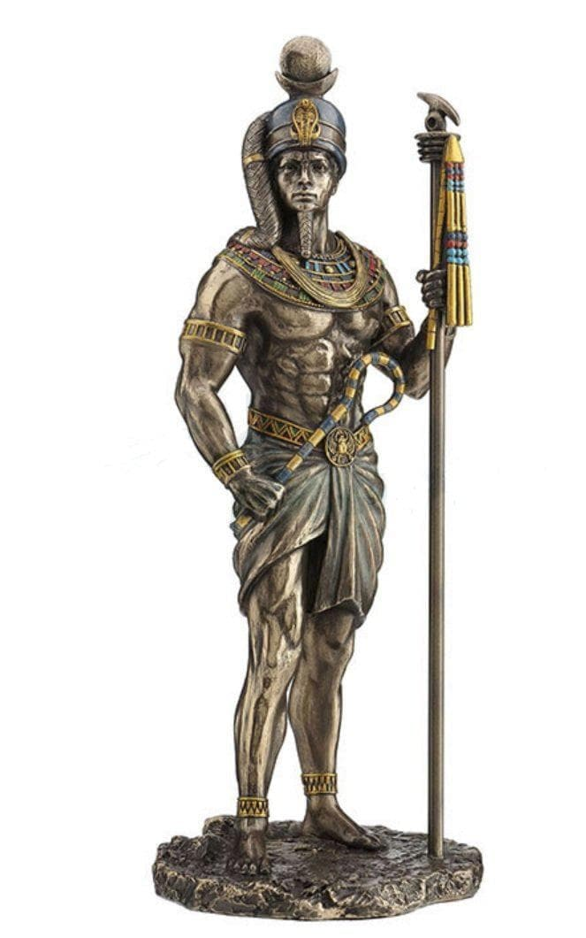 "Statues & Sculptures Ancient Egyptian God of Moon Khonsu 11"" Statue Ancient Treasures Ancientreasures Viking Odin Thor Mjolnir Celtic Ancient Egypt Norse Norse Mythology"