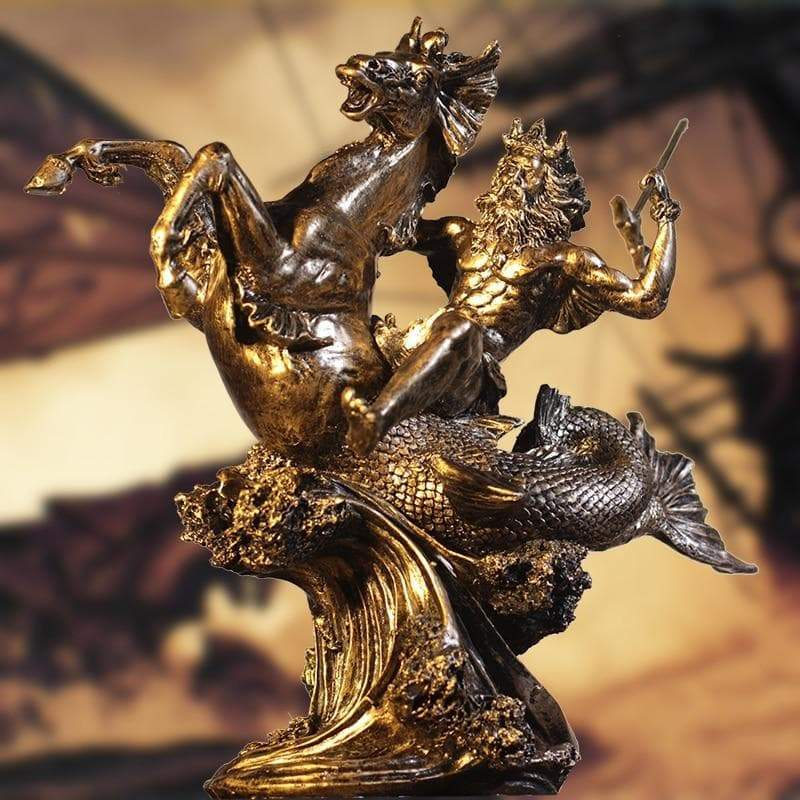 Statues & Sculptures Ancient Greek God Poseidon Resin Ornament Statue Ancient Treasures Ancientreasures Viking Odin Thor Mjolnir Celtic Ancient Egypt Norse Norse Mythology