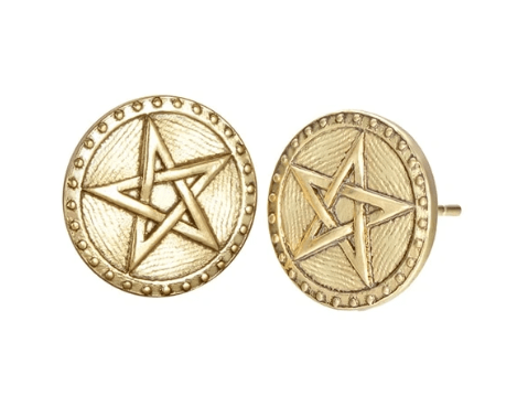Stud Earrings Gold Plated Viking Norse Studs Earrings Wicca Pentagram Ear Studs Viking Jewelry Vegvisir Viking Star of David Earrings Of Women Free Ship|Stud Earrings| Ancient Treasures Ancientreasures Viking Odin Thor Mjolnir Celtic Ancient Egypt Norse Norse Mythology