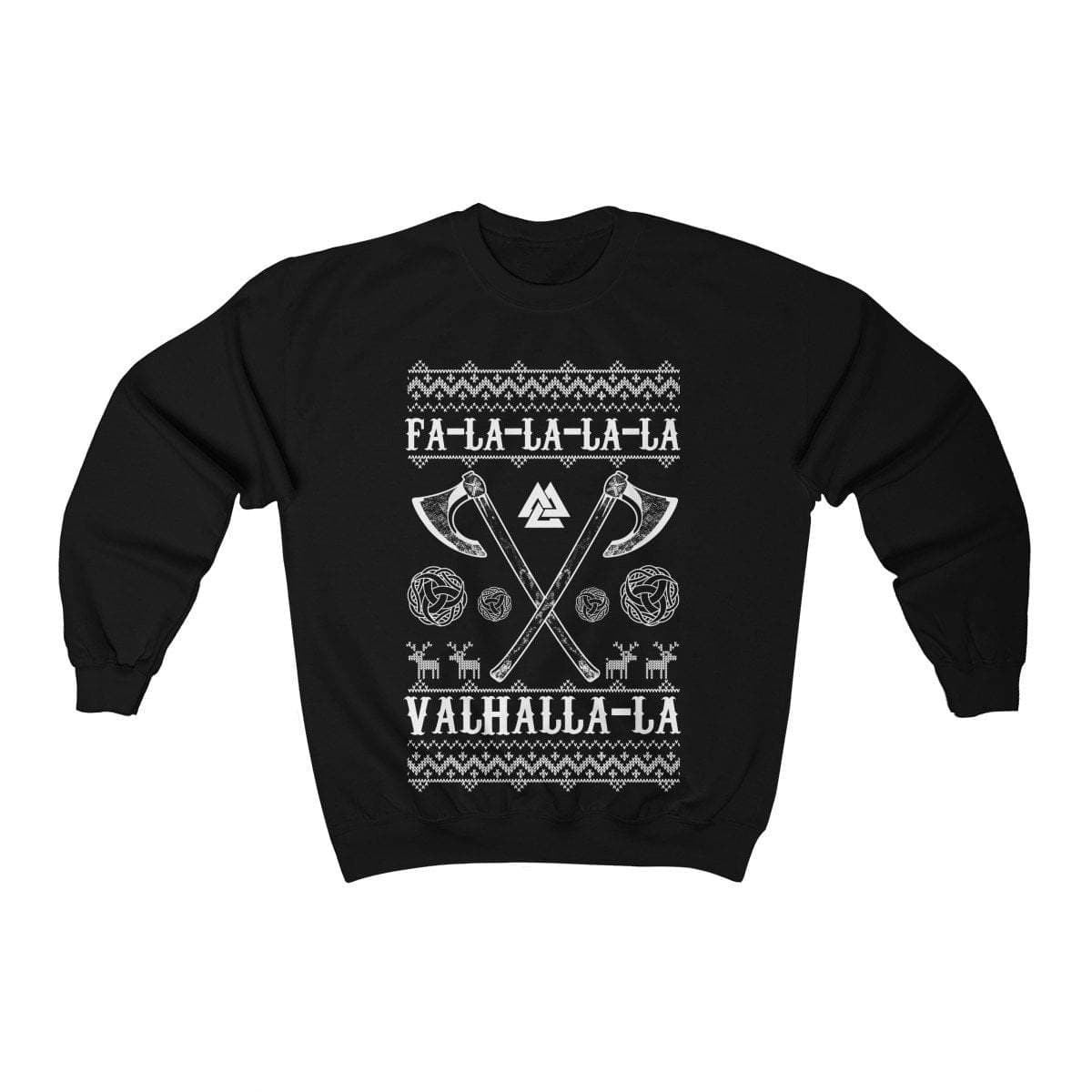 Unisex Axes Fa-La-La Valhalla Christmas Holiday Sweater