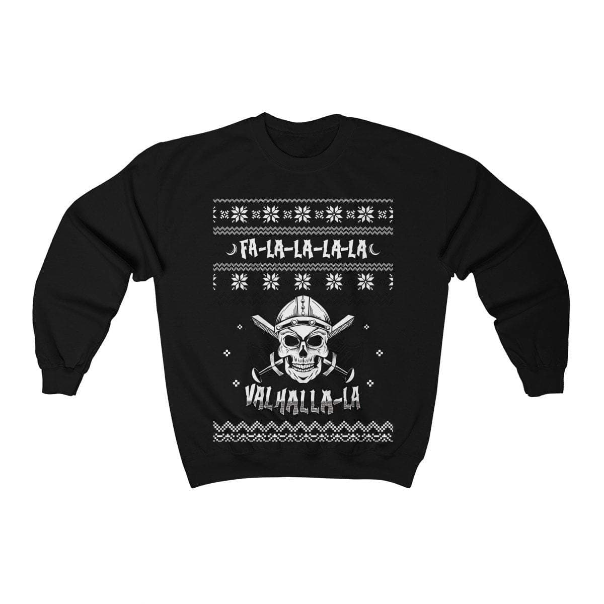 Unisex Viking Skull Fa-La-La Valhalla Christmas Holiday Sweater