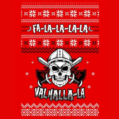 Sweatshirt Unisex Viking Skull Fa-La-La Valhalla Christmas Holiday Sweater