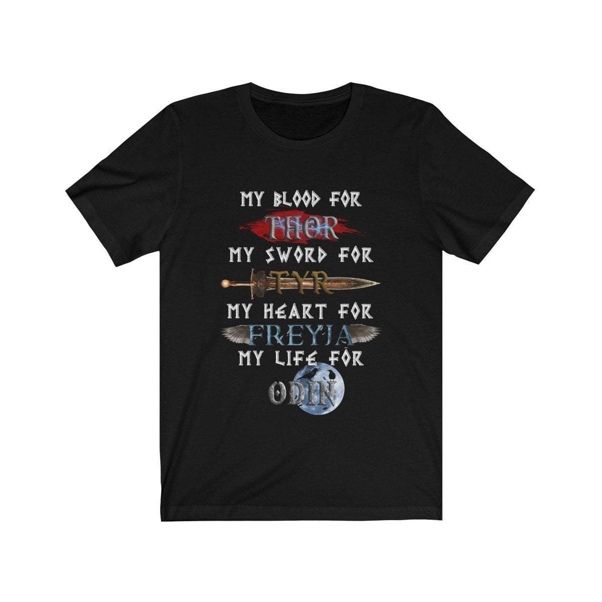T-Shirt Black / L Hail to the Norse Gods T-Shirt