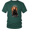 T-shirt District Unisex Shirt / Dark Green / S I was a Wolf and She My Moon Norse Design