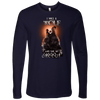 T-shirt Next Level Mens Long Sleeve / Midnight Navy / S I was a Wolf and She My Moon Norse Design