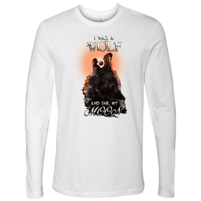 T-shirt Next Level Mens Long Sleeve / White / S I was a Wolf and She My Moon Norse Design