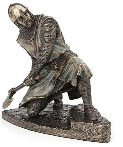"Templar 8"" Half Kneeling Knight Wielding Battle Ax Statue Ancient Treasures Ancientreasures Viking Odin Thor Mjolnir Celtic Ancient Egypt Norse Norse Mythology"