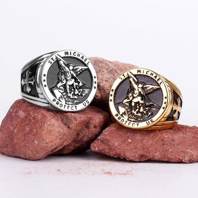 Templar Archangel Michael Protection Stainless Steel Ring