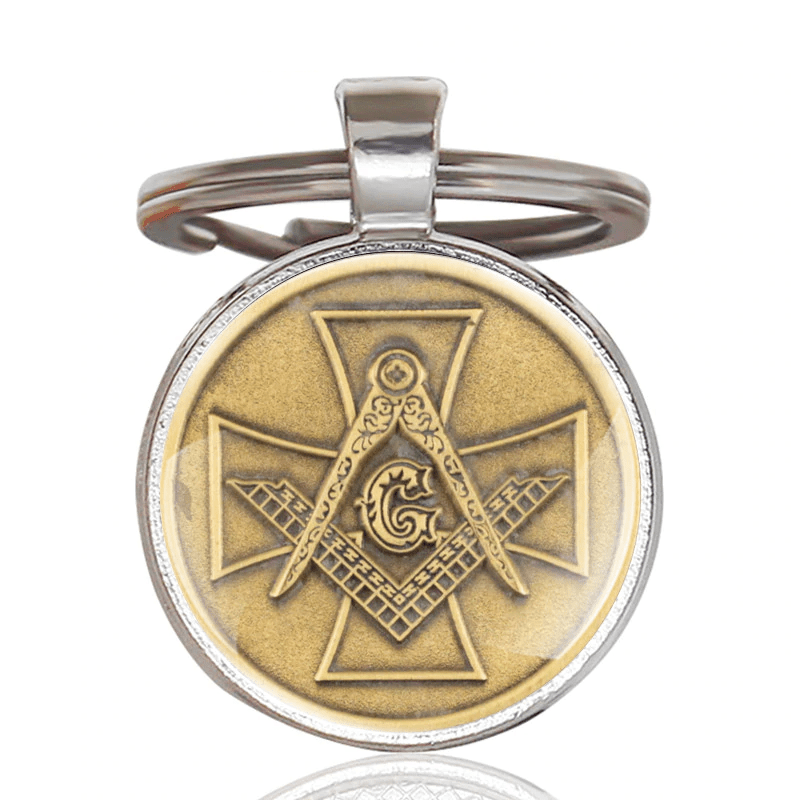 Templar Cross Knight & Masonic Square Pendant Keychain Ancient Treasures Ancientreasures Viking Odin Thor Mjolnir Celtic Ancient Egypt Norse Norse Mythology