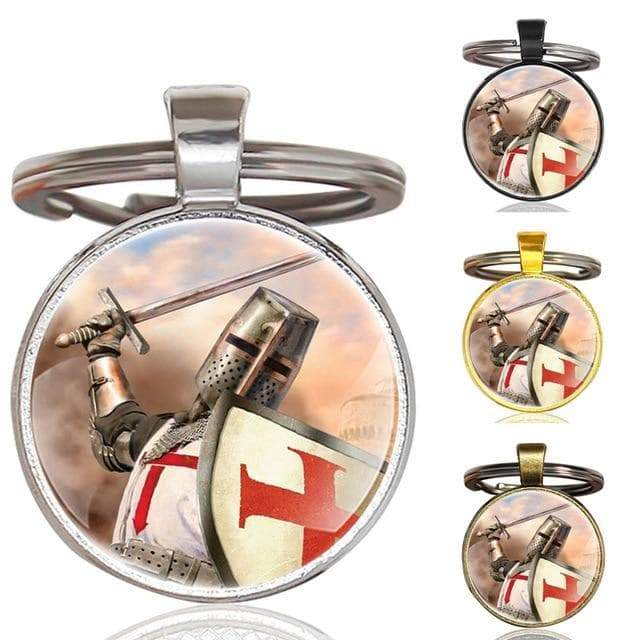 Templar Crusader Knight Zinc Alloy Pendant Keychain Ancient Treasures Ancientreasures Viking Odin Thor Mjolnir Celtic Ancient Egypt Norse Norse Mythology