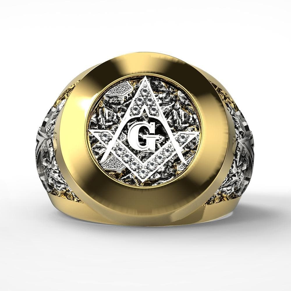 Freemason Symbol Geometry Templar Ring