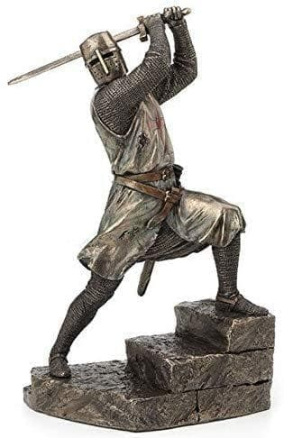 Templar Knight on Battle Stairs Brass Statue Ancient Treasures Ancientreasures Viking Odin Thor Mjolnir Celtic Ancient Egypt Norse Norse Mythology