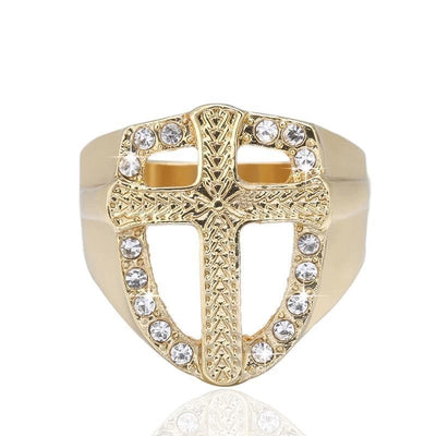Templar US 5 Templar Armour Crusader Cross Ring