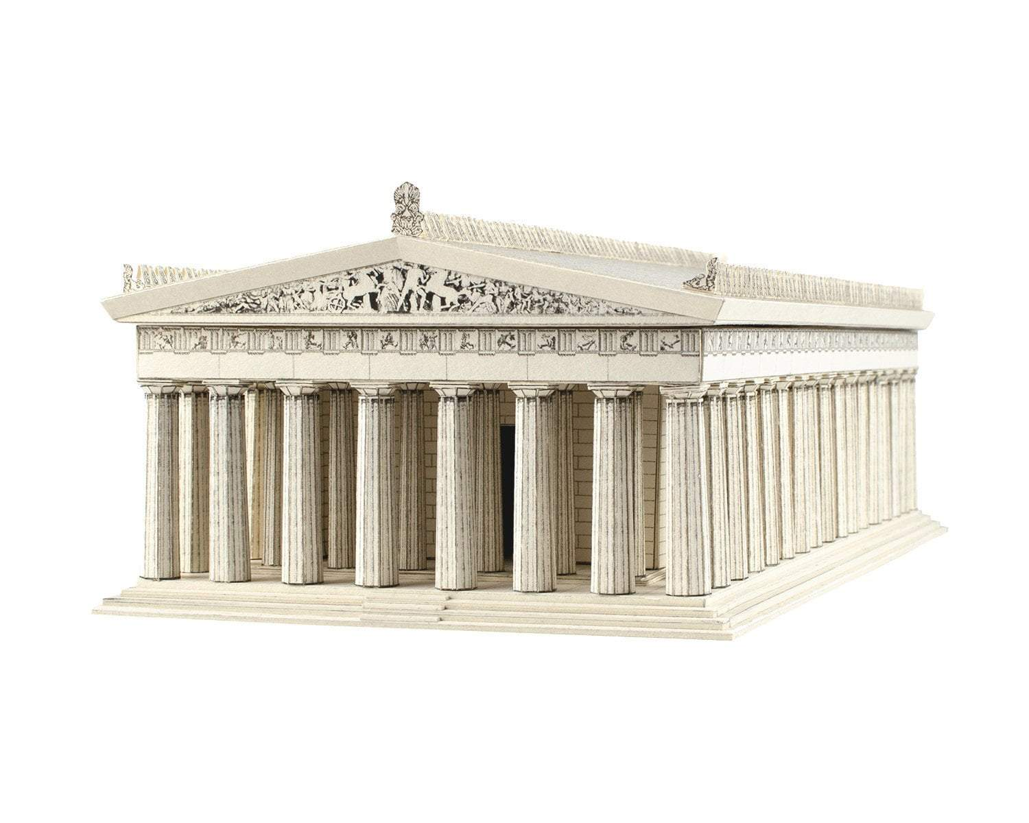 THE PARTHENON Architecture Paper Model Kit Ancient Greek Temple Acropolis Athens Greece School Supplies