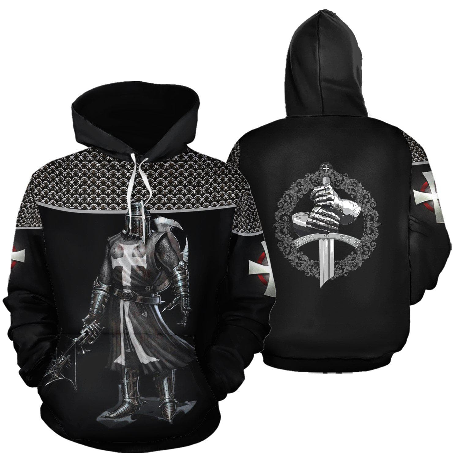 Unisex Hoodie Ancient Treasures Ancientreasures Viking Odin Thor Mjolnir Celtic Ancient Egypt Norse Norse Mythology