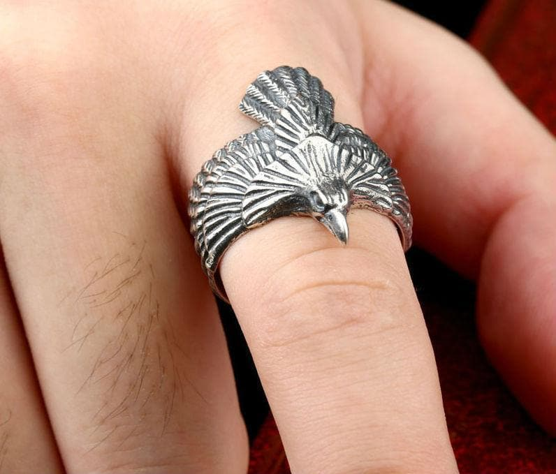 Stainless Steel Odin's Raven Ring