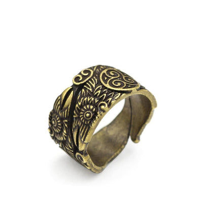 Viking Adjustable / Bronze Huginn and Munnin Nordic Ring Ancient Treasures Ancientreasures Viking Odin Thor Mjolnir Celtic Ancient Egypt Norse Norse Mythology