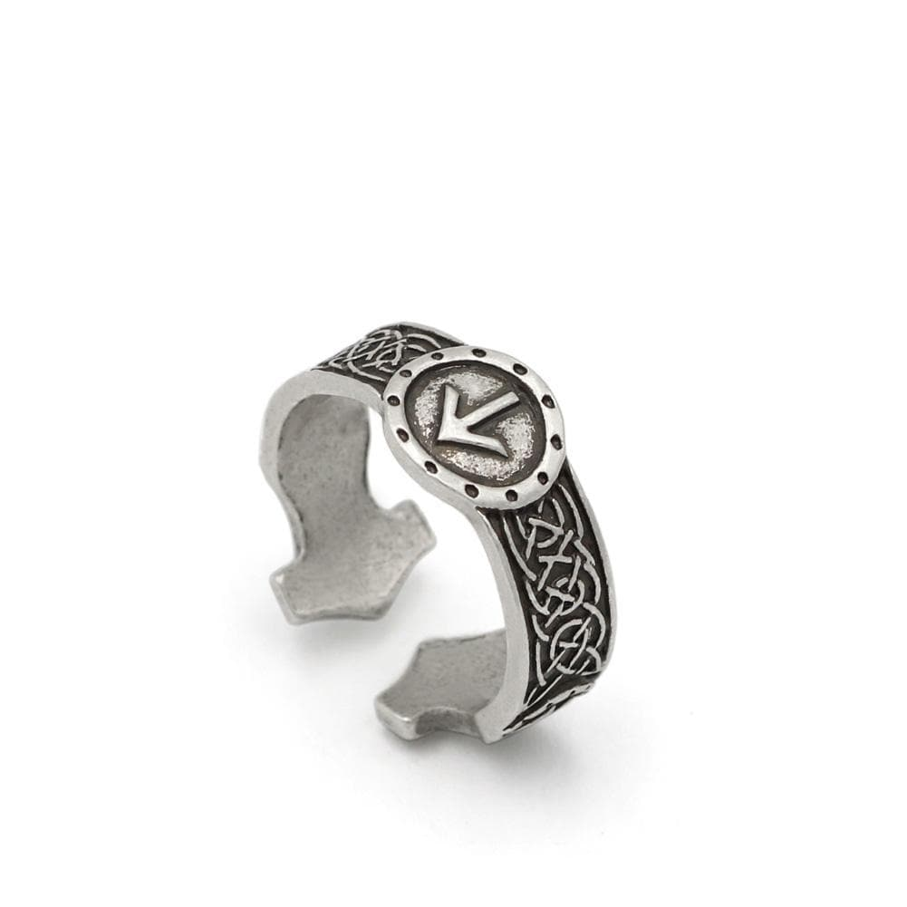 Viking Elder Futhark Rune Ring