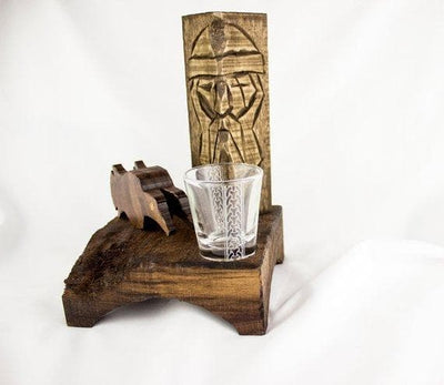 Viking Asatru Odin Altar Kit - Norse God Statue All Father Odin Huginn Muninn Ancient Treasures Ancientreasures Viking Odin Thor Mjolnir Celtic Ancient Egypt Norse Norse Mythology