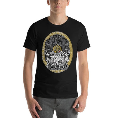 Viking Black / S Odinn Alfather Viking T-Shirt by CelticHammerClub Ancient Treasures Ancientreasures Viking Odin Thor Mjolnir Celtic Ancient Egypt Norse Norse Mythology