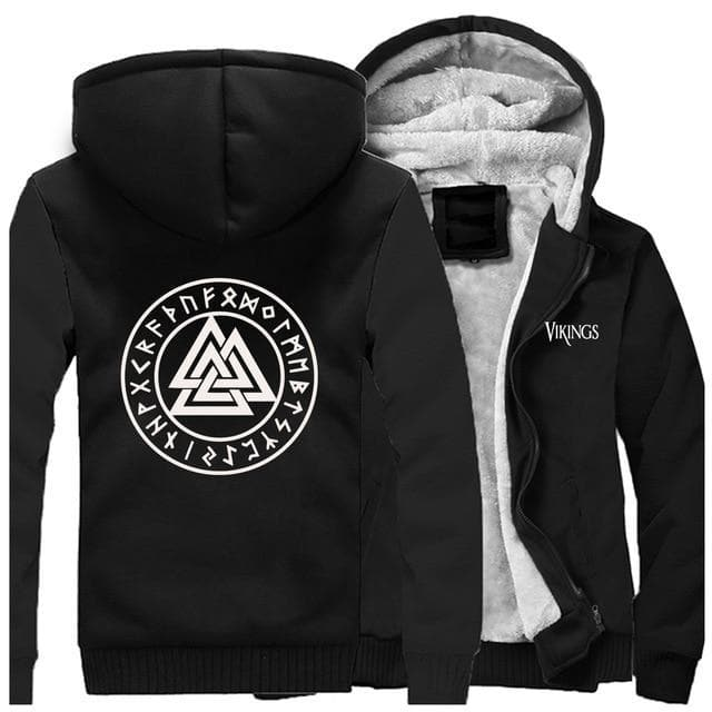 Viking Black / XS Valknut Vikings Winter Hoodie