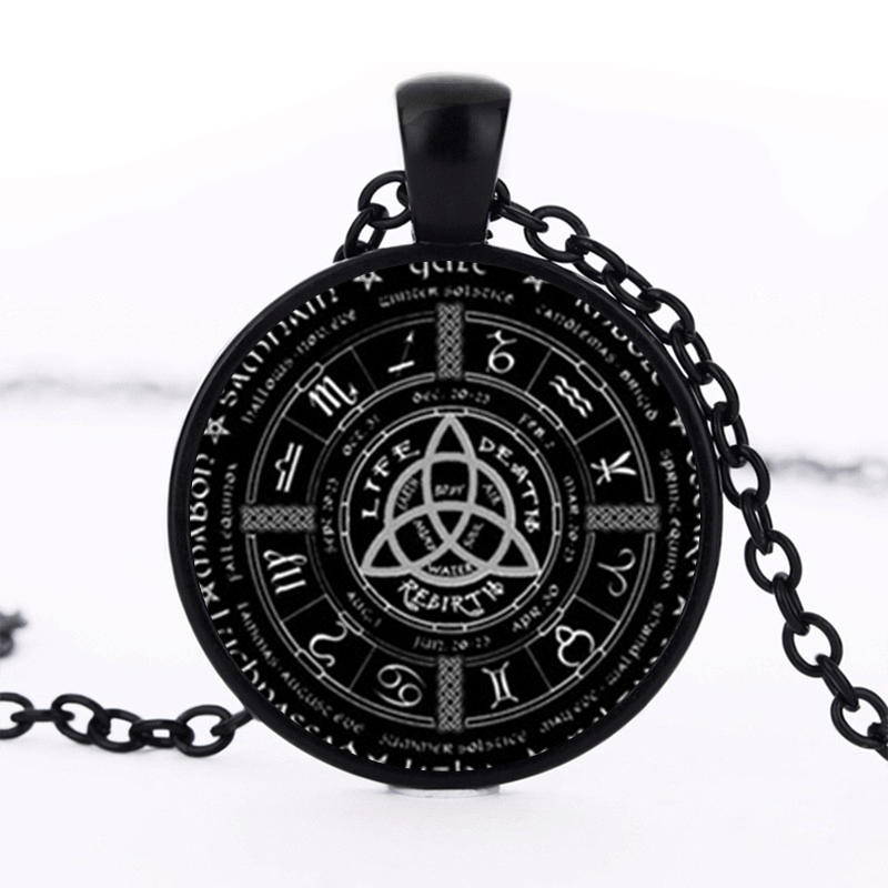 Viking Triquetra Zodiac Necklace