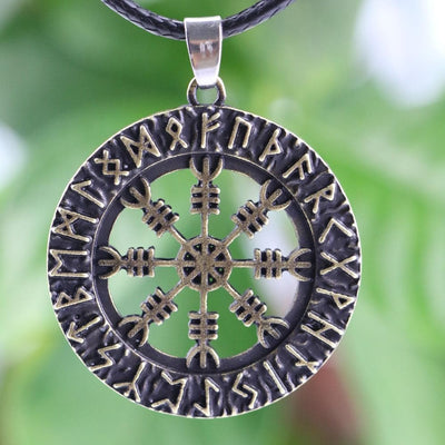 Viking Bronze Aegishjálmur Pendant Nordic Necklace Ancient Treasures Ancientreasures Viking Odin Thor Mjolnir Celtic Ancient Egypt Norse Norse Mythology