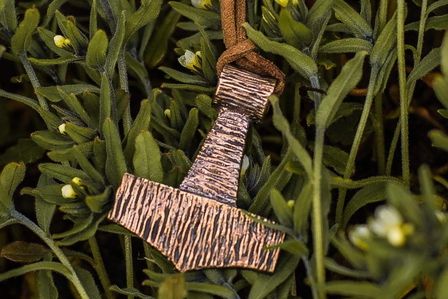 Viking Bronze Mjolnir Pendant with Wooden Style Ancient Treasures Ancientreasures Viking Odin Thor Mjolnir Celtic Ancient Egypt Norse Norse Mythology