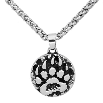 Viking Default Title Stainless Steel Bear Claw Necklace
