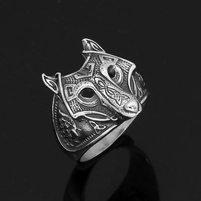 Viking Default Title Stainless Steel Fenrir The Norse Wolf Ring