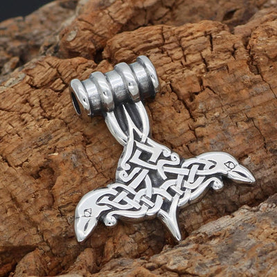 Viking Default Title Stainless Steel Huginn and Muninn Necklace