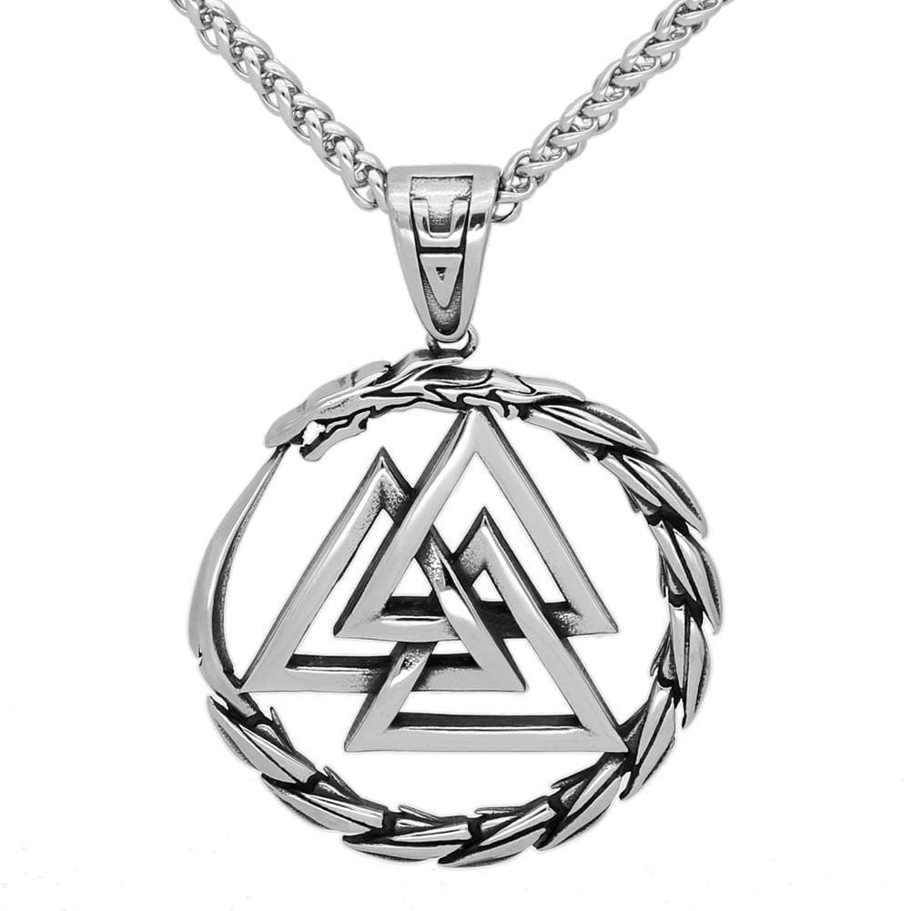 Viking Default Title Stainless Steel Valknut Necklace