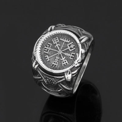 Viking Default Title Stainless Steel Vegvisir Norse Ring