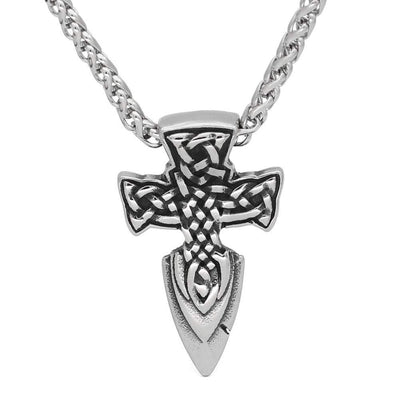 Viking Default Title Stainless Steel Viking Cross Necklace
