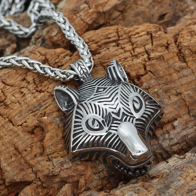 Viking Default Title Stainless Steel Viking Wolf Fenrir Necklace