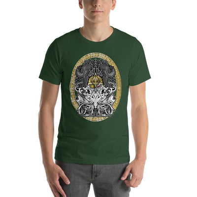 Viking Forest / S Odinn Alfather Viking T-Shirt by CelticHammerClub Ancient Treasures Ancientreasures Viking Odin Thor Mjolnir Celtic Ancient Egypt Norse Norse Mythology
