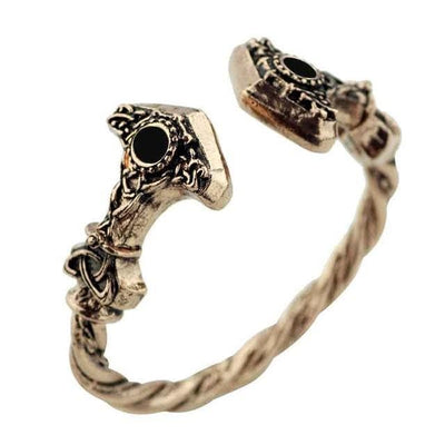 Viking Gold Plated Thor's Hammer Bracelet Ancient Treasures Ancientreasures Viking Odin Thor Mjolnir Celtic Ancient Egypt Norse Norse Mythology