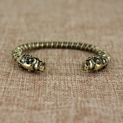 Viking Gold Wolf Headed Viking Bracelet Ancient Treasures Ancientreasures Viking Odin Thor Mjolnir Celtic Ancient Egypt Norse Norse Mythology