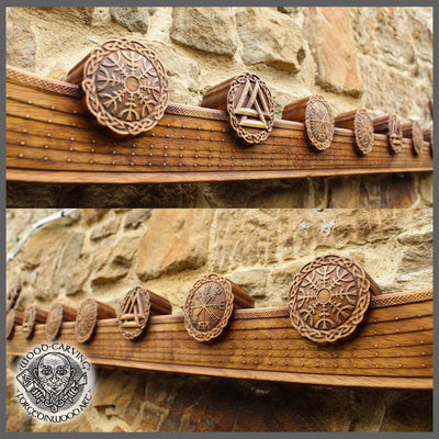 Viking Great Drakar Viking Boat Wood Carving