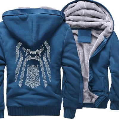 Viking lake blue / M Odin Vikings Hoodie Ancient Treasures Ancientreasures Viking Odin Thor Mjolnir Celtic Ancient Egypt Norse Norse Mythology