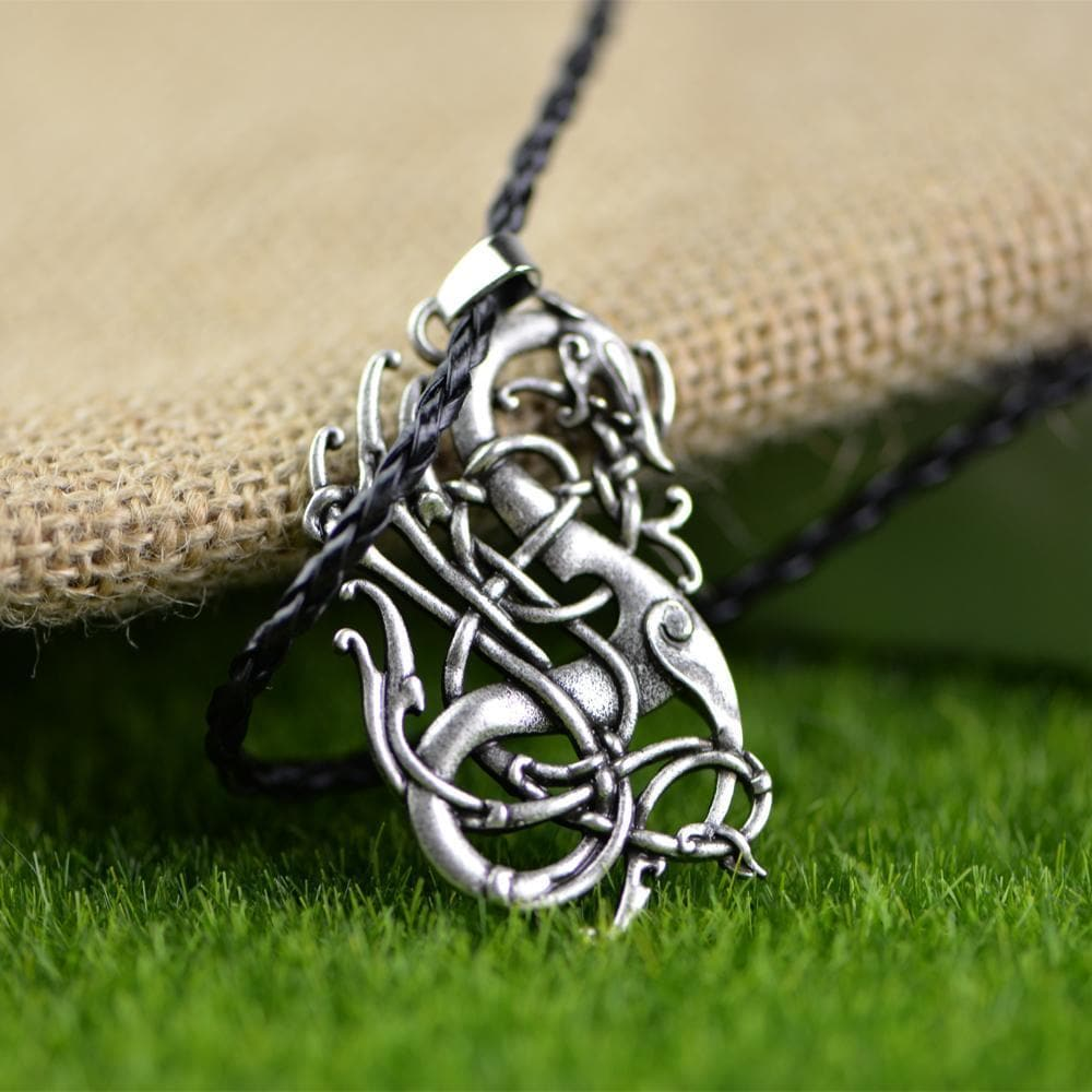 Viking Leather Cord Norse Dragon Necklace Ancient Treasures Ancientreasures Viking Odin Thor Mjolnir Celtic Ancient Egypt Norse Norse Mythology