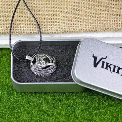 Viking Leather Cord with Gift Box The Raven of Odin Necklace Ancient Treasures Ancientreasures Viking Odin Thor Mjolnir Celtic Ancient Egypt Norse Norse Mythology