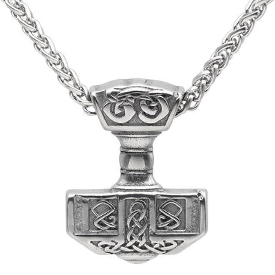 Viking Metal Chain Stainless Steel Thor's Hammer Mjolnir Pendant Necklace Ancient Treasures Ancientreasures Viking Odin Thor Mjolnir Celtic Ancient Egypt Norse Norse Mythology