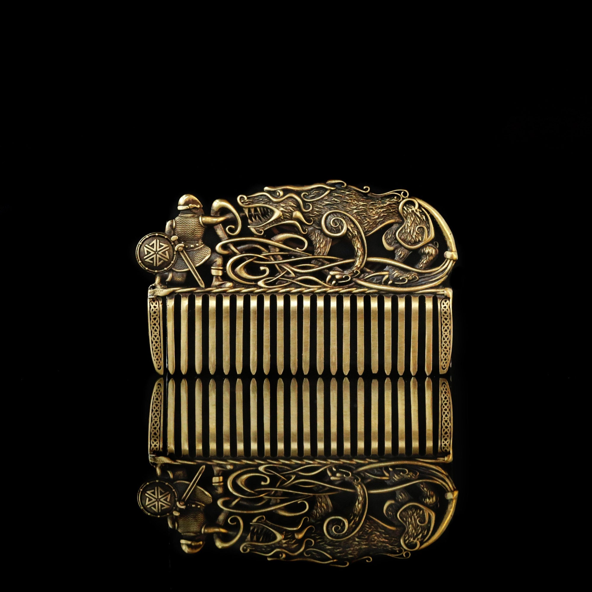 Viking Nordic Wolf Fenrir Beard & Hair Comb Ancient Treasures Ancientreasures Viking Odin Thor Mjolnir Celtic Ancient Egypt Norse Norse Mythology